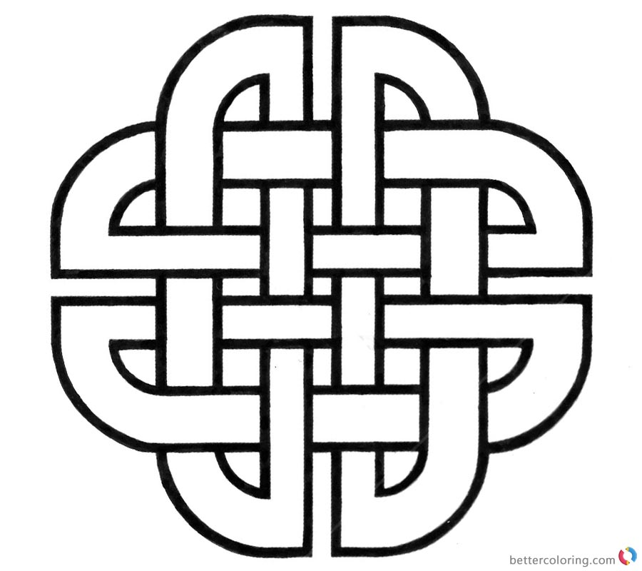 Celtic Knot Coloring Pages by silver_jackal printable for free