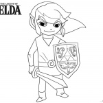 Chibi Link from Legend of Zelda to Coloring Pages