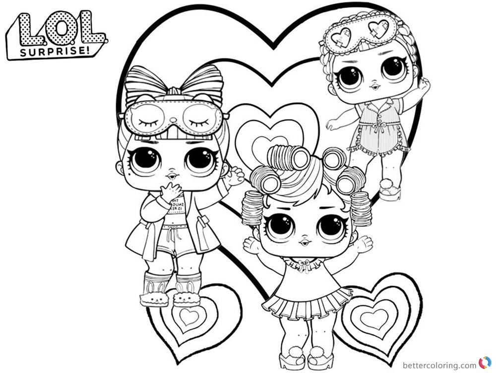 Cute LOL Coloring Pages - Free Printable Coloring Pages