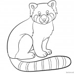 Cute Red Panda Coloring Pages