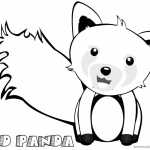Cute Red Panda Coloring Pages Clip Art