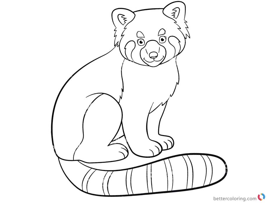 red panda cute coloring pages - photo#12