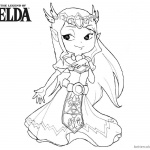 Cute Zelda Coloring Pages