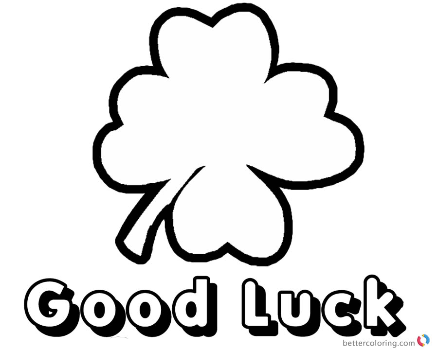 Cute and easy Four Leaf Clover Coloring Pages - Free Printable ...