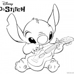 Disney Lilo and Stitch Coloring Pages Simple Fanart Drawing