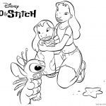 Disney Lilo and Stitch Ohana Coloring Pages Characters