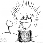 Dr Seuss Lorax Coloring Page Awesome Drawing Lorax and Tree