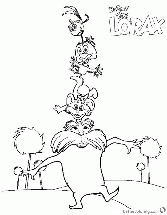 Where to find free dr seuss coloring pages and printables for Dr seuss character coloring pages