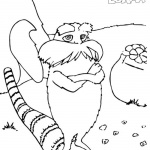 Dr Seuss Lorax Coloring Pages Fan Art