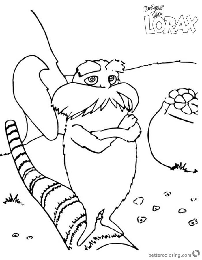 Dr Seuss Lorax Coloring Pages Fan Art printable