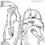 Dr Seuss Lorax Coloring Pages Kids Drawing by Eric