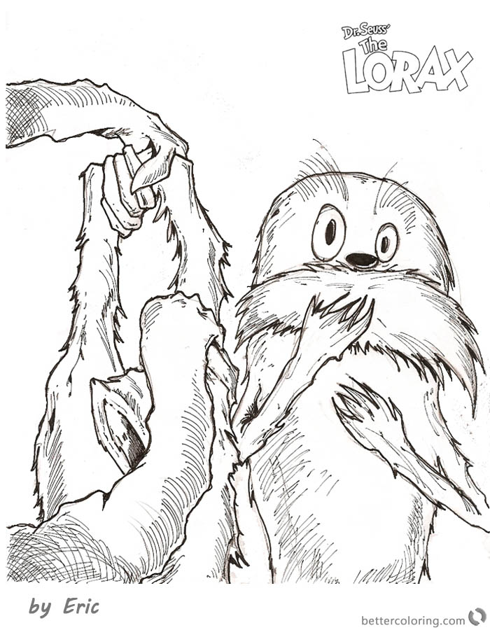 Dr Seuss Lorax Coloring Pages Kids Drawing printable