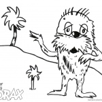 Dr Seuss Lorax Coloring Pages Lorax and Tree by Ethan