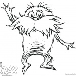 Dr Seuss Lorax Coloring Pages Sketch