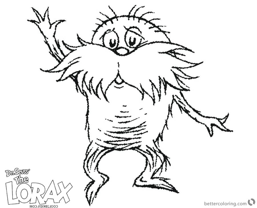 Dr Seuss Lorax Coloring Pages Sketch printable