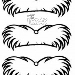 Dr Seuss Lorax Mustache Coloring Pages