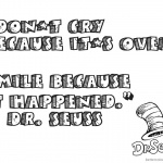 Dr Seuss Quote Coloring Pages Dont Cry