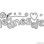 Wacky Wednesday Coloring Pages