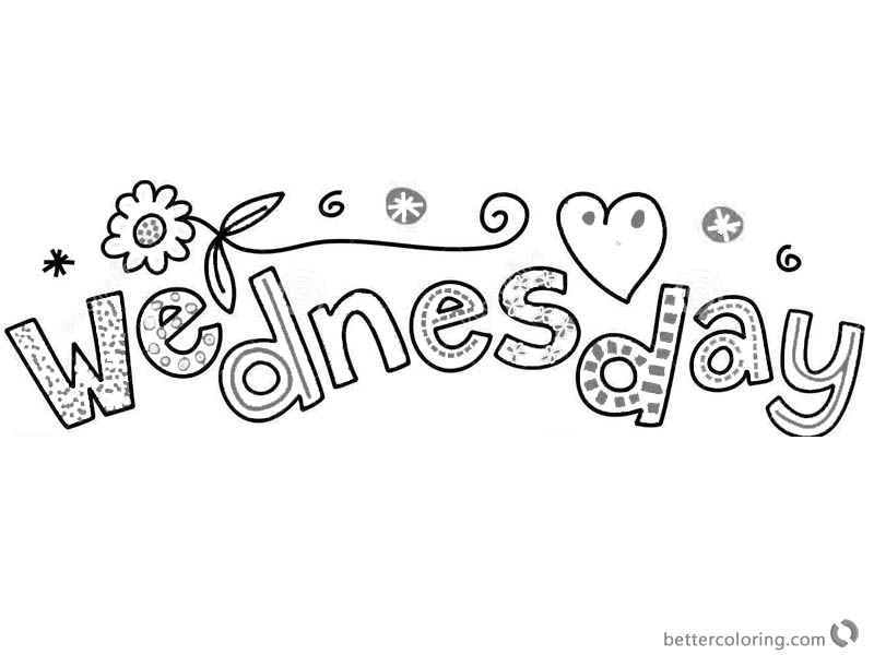 Dr Seuss Wacky Wednesday Coloring Pages with Flowers printable