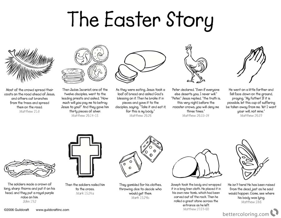 Easter Story Empty Tomb Cloring Pages He is Risen printable for free