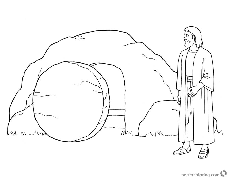 Empty Tomb Cloring Pages Easter Coloring Pages He is Risen