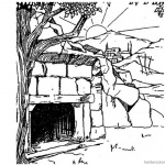 Empty Tomb Cloring Pages Easter Realistic Drawing