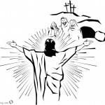 Empty Tomb Cloring Pages He is Risen Line Art