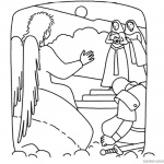 Empty Tomb Cloring Pages Mary and Angel
