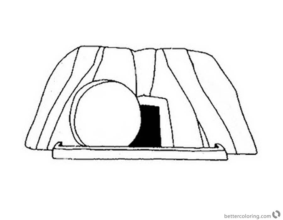 Empty Tomb Cloring Pages Simple Easter Coloring Sheet printable for free