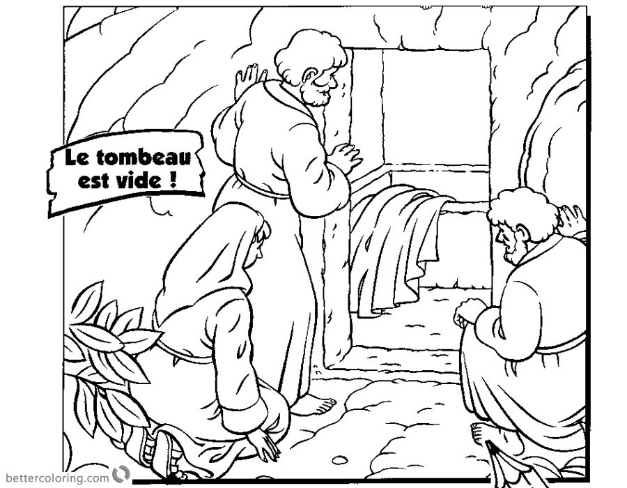 Empty Tomb Cloring Pages They found Jesus Resurrection - Free ...