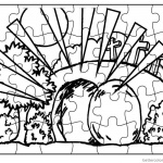 Empty Tomb Puzzle Cloring Pages Easter Activities Sheet