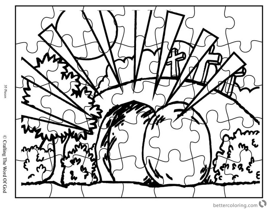 Empty Tomb Puzzle Cloring Pages Easter Activities Sheet ...