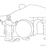 Empty Tomb from He is Risen Cloring Pages