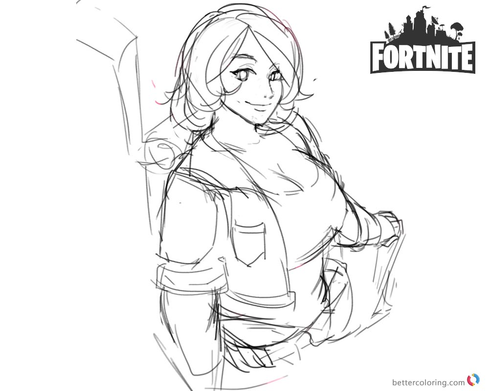 Fortnite Coloring Pages Brienne Fanart Free Printable