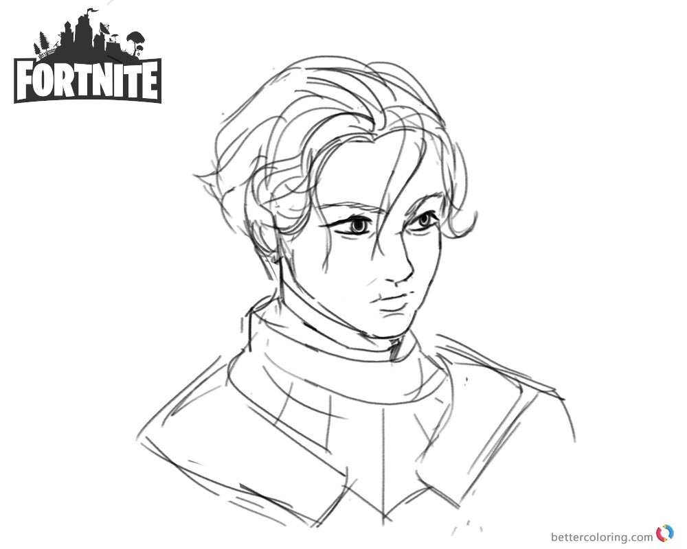 Fortnite Coloring Pages Brienne of Tarth printable and free