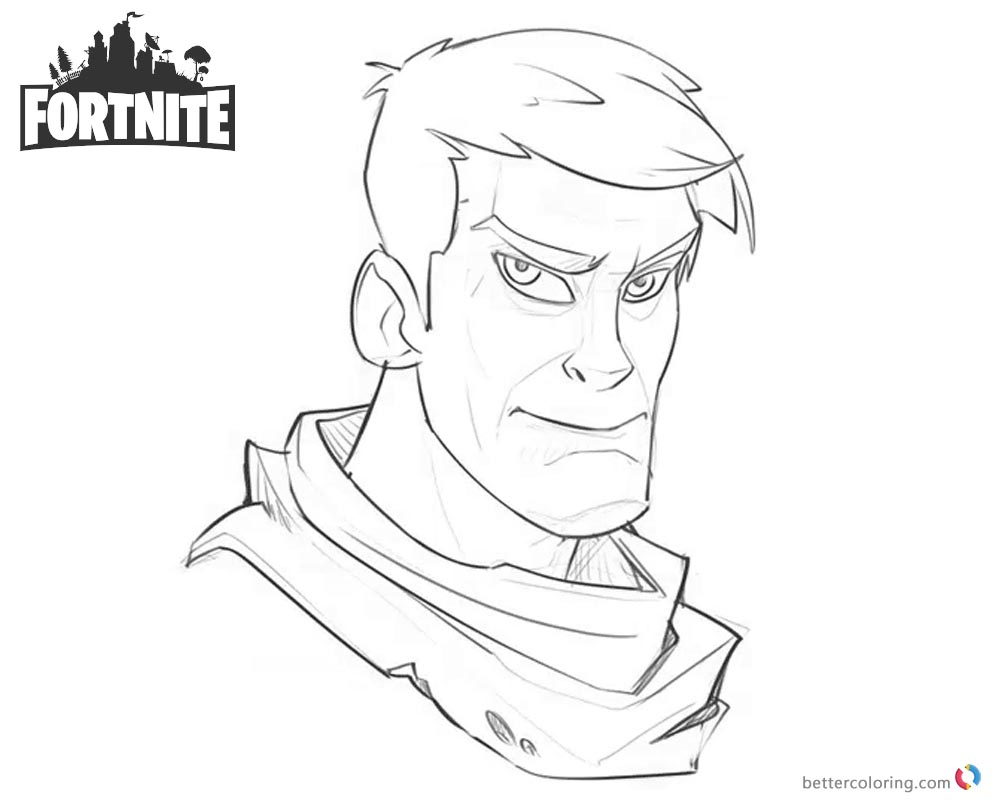 Fortnite Coloring Pages Character