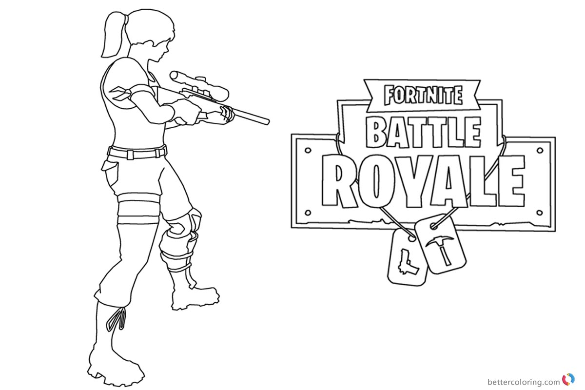 Fortnite Coloring Pages Fortnite Battle Royale printable for free