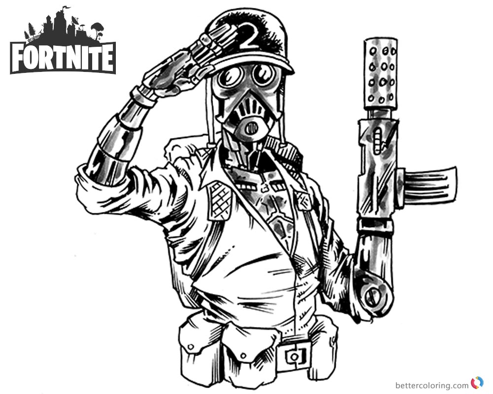 Fortnite Coloring Pages Jason Young by Shonborn Free