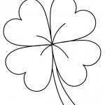 Four Leaf Clover St Patric Day Coloring Pages