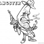 Gangster Coloring Pages Banana Cartoon