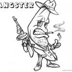 Gangster Coloring Pages Banana Cartoon
