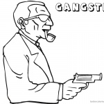 Gangster Coloring Pages Dangerous