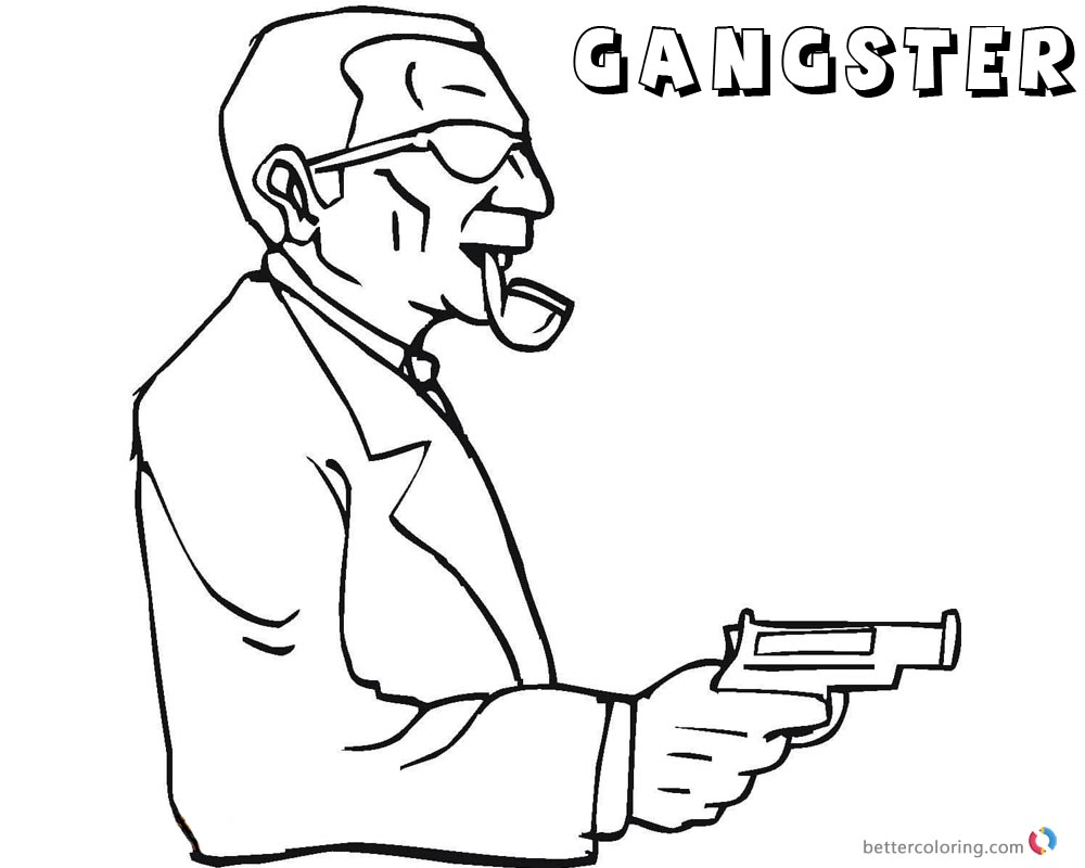 Gangster Coloring Pages Dangerous printable