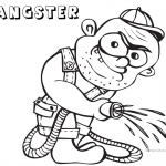 Gangster Coloring Pages Gardener Black and white