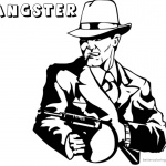Gangster Coloring Pages Gun is Ready