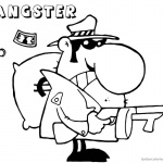 Gangster Coloring Pages big money
