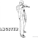 Gangster Coloring Pages guy with gun