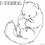 Happy Red Panda Coloring Pages