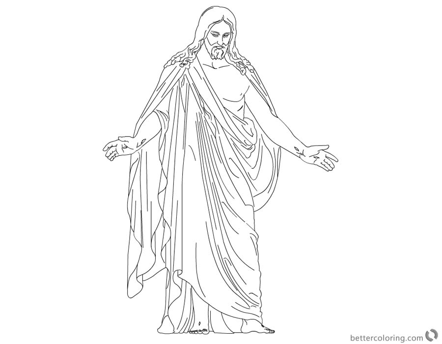 He is Risen Coloring Pages Easter Coloring Sheet printable for free