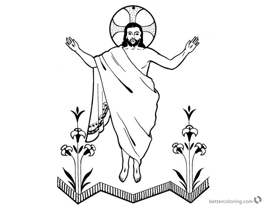 He is Risen Coloring Pages Jesus Resurrection Clip Art - Free ...